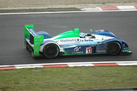 Pescarolo Sport en route to a second-place finish at the 2005 1000km of Spa.