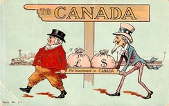 Investors from the United Kingdom and the United States helped fuel the country's economic growth (from a postcard sent in 1907).