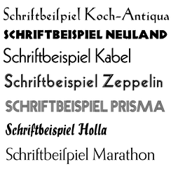 Non-blackletter fonts designed by Rudolf Koch