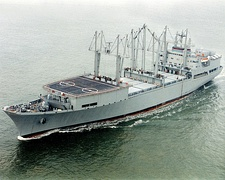 SS Wright (T-AVB-3), an aviation logistics support ship, the lead ship of her class