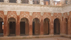The courtyard of a colonial era townhouse in Sonargaon