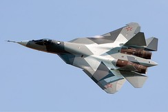 The Sukhoi Su-57 is a fifth-generation jet fighter being developed for the Russian Air Force.