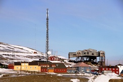 The Telenor polar operational center at Longyearbyen, Svalbard
