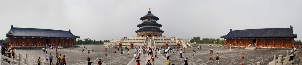 The Temple of Heaven, a center of heaven worship and an UNESCO World Heritage site, symbolizes the Interactions Between Heaven and Mankind.[565]