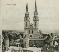Zagreb Cathedral end of 19th century