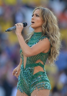 Lopez performing during the 2014 FIFA World Cup opening ceremony in Brazil