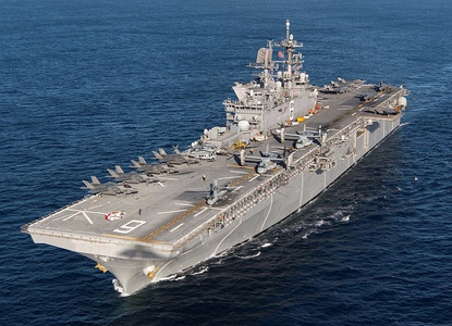 The amphibious assault ship USS America, launched in 2012.