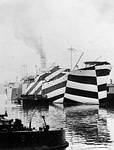 USS West Mahomet in dazzle camouflage