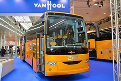 A Van Hool EX16M produced in Macedonia. Shown at the IAA 2014