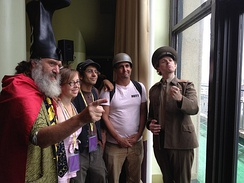 Vermin Supreme, The Yes Men and monochrom's Johannes Grenzfurthner at HOPE 2012