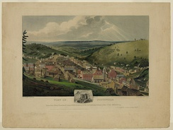 View of Pottsville, Pennsylvania by John Rowson Smith