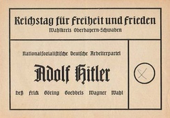 A ballot from the 1936 elections in Nazi Germany.