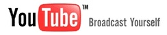 The YouTube logo from launch until 2011, featuring its former slogan Broadcast Yourself