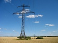 Overhead power line 35 kV in Ukraine