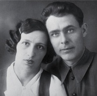 Young Brezhnev with his wife Viktoria
