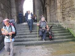 Паломники в Сантьяго-де-Компостела