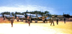 19th Fighter Squadron P-47N Thunderbolt, Ie Shima Airfield, 1945