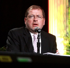 Norquist speaking at FreedomFest 2013 in Las Vegas.