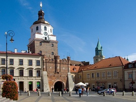 Cracow Gate in the Old Town is among the most recognisable landmarks of the city.