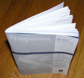 A prospectus from the US