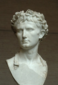 Bust of Augustus wearing the Civic Crown at Palazzo Bevilacqua in Verona, Italy