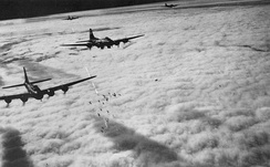 Boeing B-17F radar bombing through clouds: Bremen, Germany, on 13 November 1943