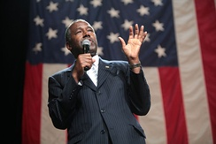 Carson speaking at a campaign event in August 2015