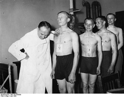 Inspection of German conscripts