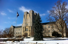 Burruss Hall houses the Office of the Vice President for Research and Innovation.