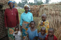 Family in Rutshuru, North Kivu, Democratic Republic of the Congo