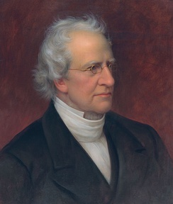 Portrait of Charles Hodge by Rembrandt Peale. Hodge was a leading proponent of the Princeton Theology.