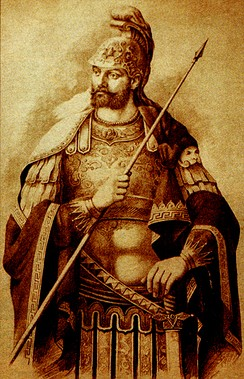 Constantine XI depicted in semi-classical armour.