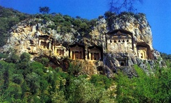 Lycian rock cut tombs of Kaunos (Dalyan)