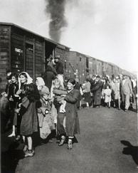 Deportation of 10,000 Polish Jews to Treblinka during the liquidation of the ghetto in Siedlce beginning 23 August 1942[113]