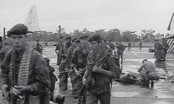 Belgian paratroopers on Stanleyville airfield shortly after the operation
