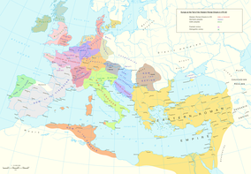 Barbarian kingdoms and tribes after the end of the Western Roman Empire
