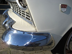 Chrome plated front bumper on a 1958 Ford Taunus