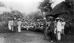 Filipino soldiers outside Manila in 1899