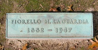 The footstone of Fiorello La Guardia