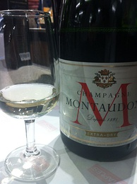 "A French Champagne designated as ""Extra Dry"""