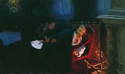 Gogol burning the manuscript of the second part of Dead Souls, by Ilya Repin