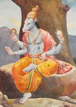The horse-headed deity in Hinduism, Hayagriva