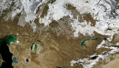 Satellite image of Kazakhstan (November 2004)