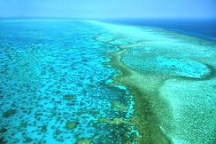Great Barrier Reef, which extends along most of Queensland's coastline
