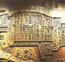 Model of the old walled city in the Lanzhou Urban Planning Museum