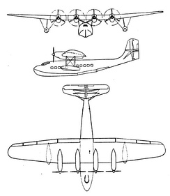 LeO H.246 3-view drawing from L'Aerophile November 1937