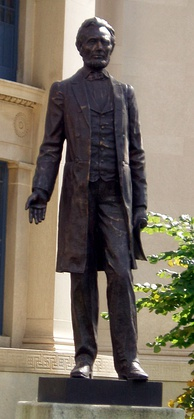 The Great Emancipator on display in Detroit, Michigan.