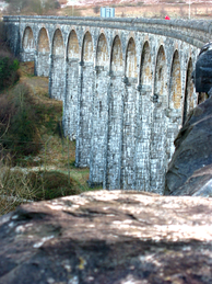 The Cefn Coed Viaduct was built to carry the Brecon and Merthyr Railway