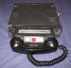 A mobile radio telephone