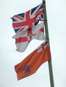 The Union Flag, Ulster Banner and Orange Order flags are often flown by loyalists in Northern Ireland